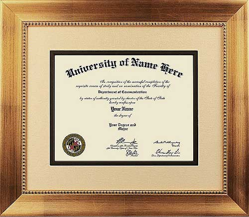 The Boss College Diploma Frame  - Our traditional style college diploma frame takes design cues from the 18th and 19th centuries. They incorporate rich woods and fabrics that feature ornate details and designs. Perfect for Doctors and Lawyers offices!